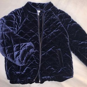 Baby Gap Kids Navy velvet quilted puffer jacket 4T